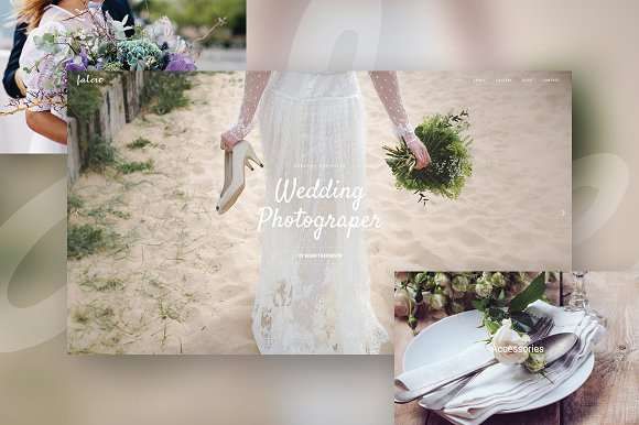 Falero Wedding Portfolio Theme Wordpress Wedding Themes