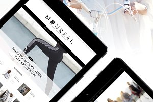 Monreal - Clean Fashion Blog Theme