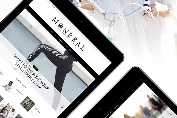 Monreal Clean Fashion Blog Theme