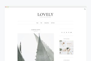 Minimal Wordpress Theme- Lovely