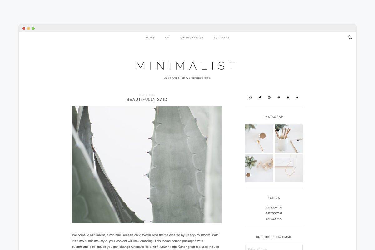 Responsive Wordpress Theme Minimal ~ WordPress Blog Themes