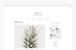 Minimal Wordpress Theme- Deco