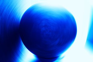 Horizontal blue rotating globe illustration background