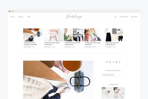 Minimal WordPress Theme- Darling