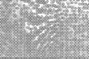 Horizontal black and white cells illustration bokeh
