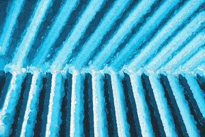 Diagonal cyan painted panels background