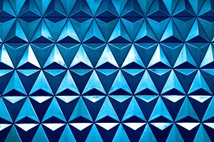 Horizontal blue triangle cells with water drops illustration bac