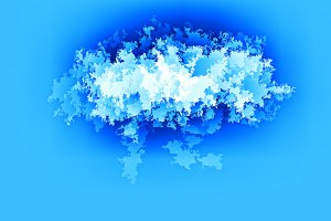 Horizontal blue abstract earth cloud illustration background