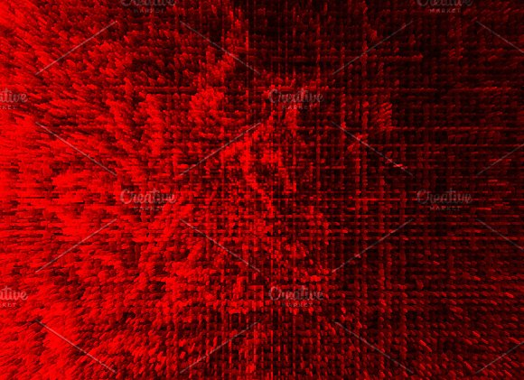 Horizontal Red Extruded Illustration Background
