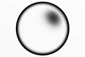 Horizontal black and white sphere ball illustration