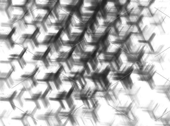 Horizontal Black And White Rotating Fans Illustration Background