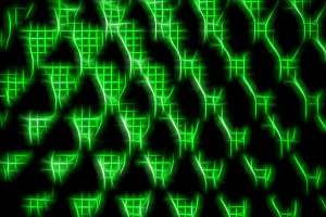 Horizontal green neon matrix illustration background