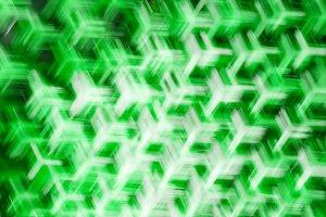 Horizontal green fan illustration background