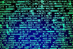 Cyberspace data matrix background
