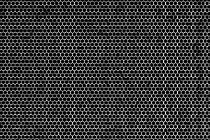 Horizontal black and white maze illustration