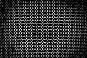Black and white maze pattern with bokeh
