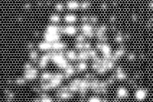 Black and white glowing cell maze