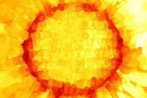 Orange painted sun background