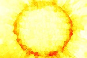 Yellow sun painting