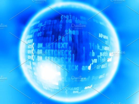 Virtual Reality Blue Earth Globe