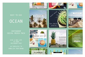 INSTAGRAM TEMPLATE PACK : TROPICAL