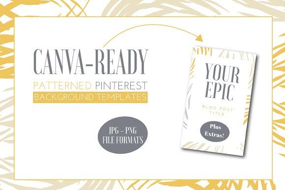 Canva Ready Pinterest Templates