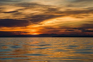 Sunset on Semiahmoo Bay