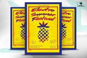 Electro Summer Festival Flyer