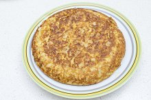 Spanish omelette with parsl