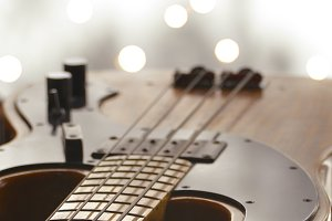 Bass Guitar with Bokeh