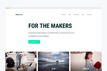 WordPress Business Theme- Maker Pro by Kelsey Grauke in Business