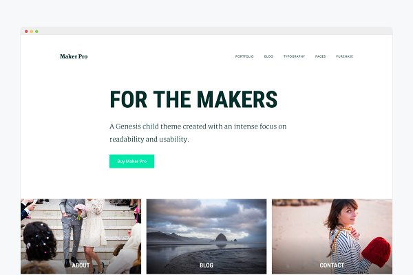 WordPress Business Themes: Bloom Blog Shop - WordPress Business Theme- Maker Pro