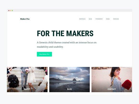 WordPress Business Theme- Maker Pro