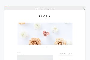Minimal Wordpress Theme- Flora