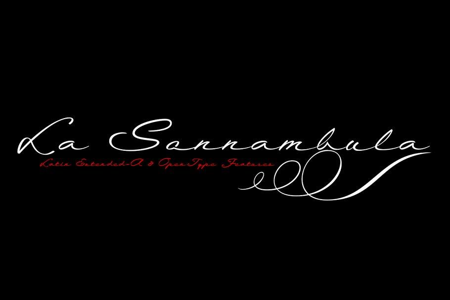 La Sonnambula typeface