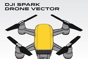 DJI Spark Drone Vector