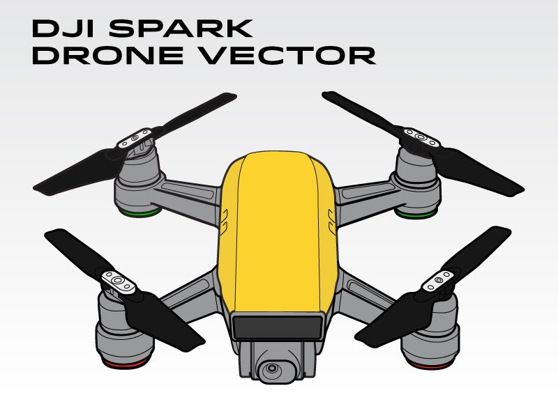 dji spark drone vector graphics creative market. Black Bedroom Furniture Sets. Home Design Ideas