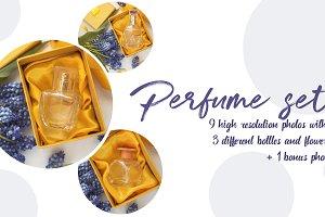 bottle of woman perfume