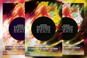 Modern Electro Remix Flyer