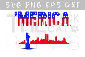 'Merica SVG PNG EPS DXF