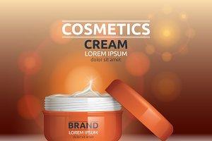Vector moisture orange cream mockup