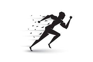 Motion of running man