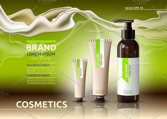 Vector Green Body Cosmetic Mockup