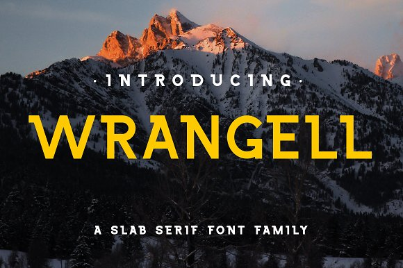Wrangell 8 Font Family