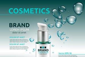 Vector moisturizing cosmetic mockup