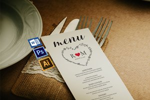 Wedding Menu template Wpc242