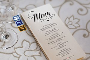 Wedding Menu template Wpc243
