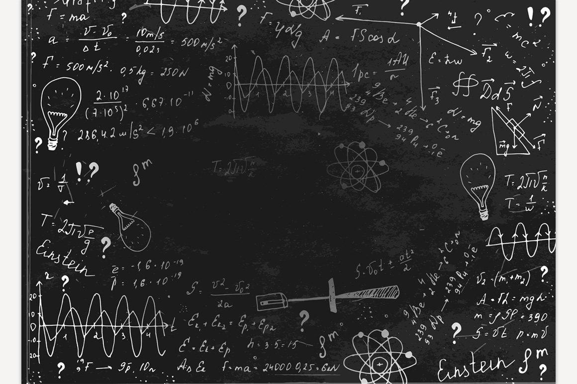blackboard physics illustrations