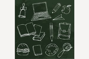 School Hand Drawn Objects