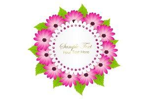 Cute Congratulation Postcard with Dahlia Flower